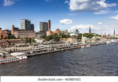 Port and Skyline of Hamburg, Northern Germany