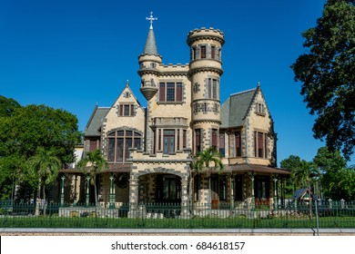 PORT OF SPAIN, TRINIDAD - July 26: Newly restored Stollmeyer's Castle, July 26 2017