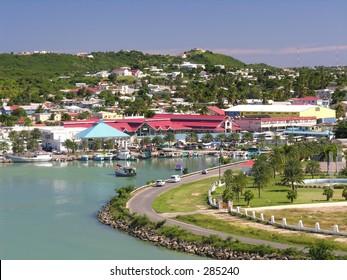 The port of St. John's / Antigua