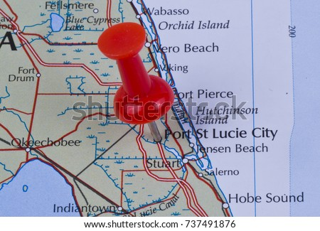 Map Of St Lucie County Florida.Port St Lucie City Florida St Stock Photo Edit Now 737491876