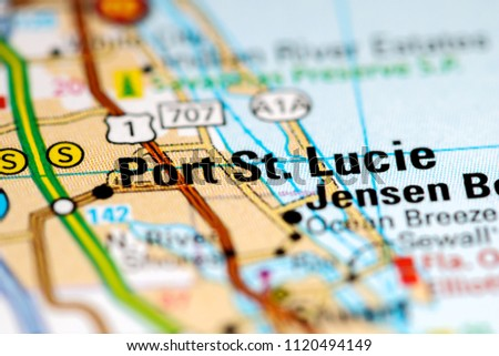 Map Of Port St Lucie Florida.Port St Lucie Florida Usa On Stock Photo Edit Now 1120494149