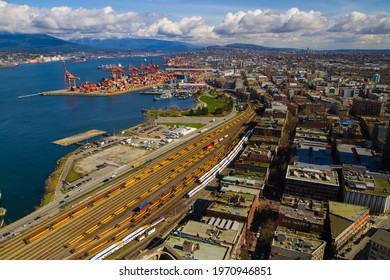 Port terminal in Vancouver, BC ,Canada, March 2016