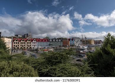 Port of Torshavn. Torshavn/faroe islands/ 9 sept 2018