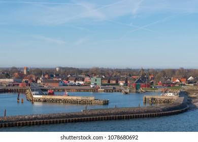 Port of town of Gedser in Denmark