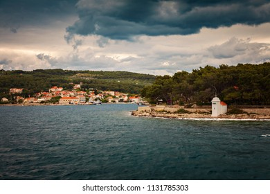 Port town of Sumartin on Brac, Croatia.