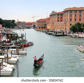 The port in Venice.