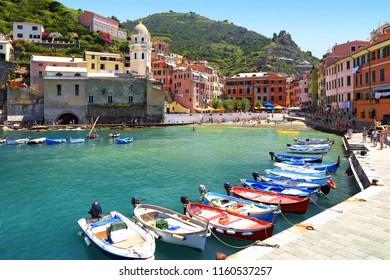 Port of Vernazza in Liguria Italy