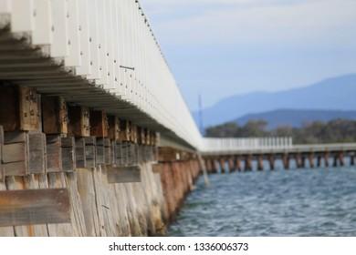 Port Welshpool, Wellington Shire, Victoria, Australia, Sea Views of Wilsons Promontory area.
