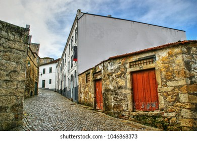 Port Wine Cellars streets in Vila Nova de Gaia, Portugal