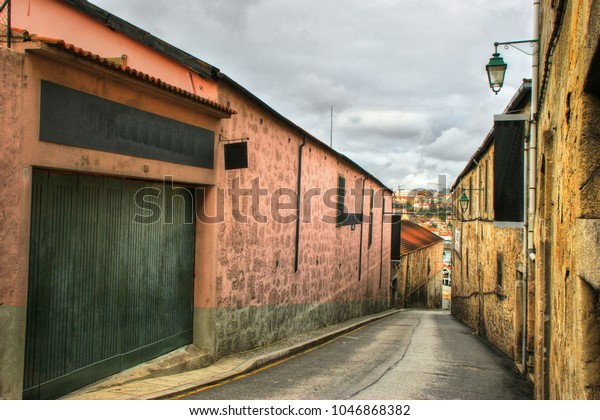 Port Wine Cellars streets in Vila Nova de Gaia, Portugal