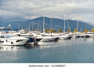 port with yacht and boat