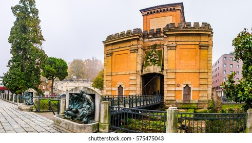 Porta Galliera was gate or portal of former outer medieval walls of city of Bologna, Italy. It is most ornamented of all remaining gates.