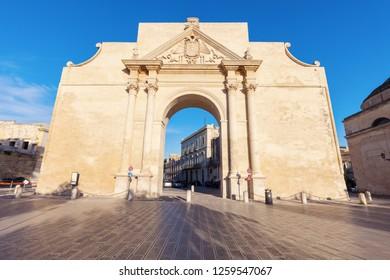 Porta Napoli in Lecce. Lecce, Apulia, Italy