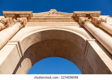Porta Napoli in Lecce. Lecce, Apulia, Italy.