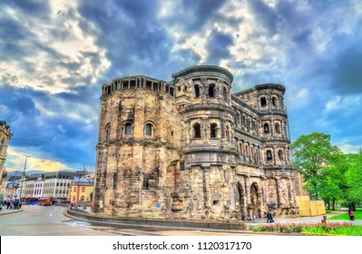 The Porta Nigra, a large Roman city gate in Trier. UNESCO world heritage in Germany