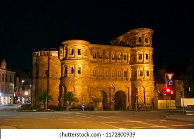 """Porta Nigra"" at Night, Trier"