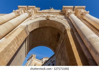 Porta Rudiae in Lecce. Lecce, Apulia, Italy