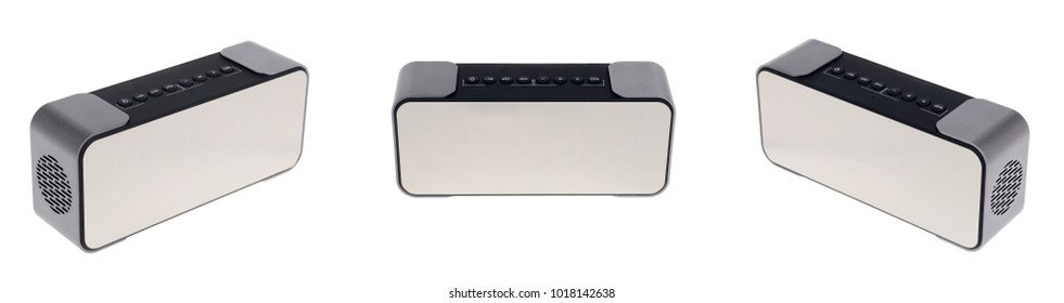 Portable Bluetooth Speaker isolated on a white background