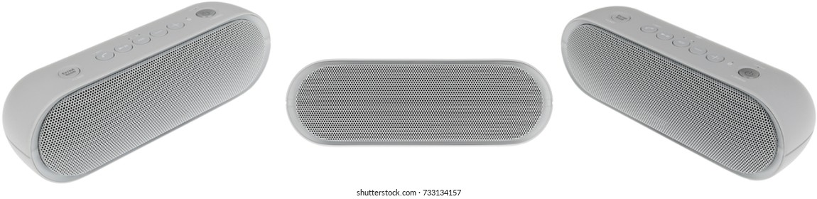 Portable Bluetooth Speaker Isolated on White Background