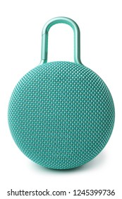 Portable Bluetooth speaker on white background