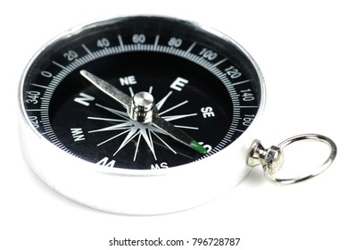 portable compass isolated on white background