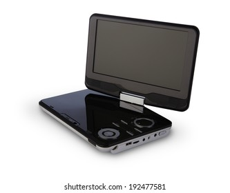 Portable DVD player with clipping path