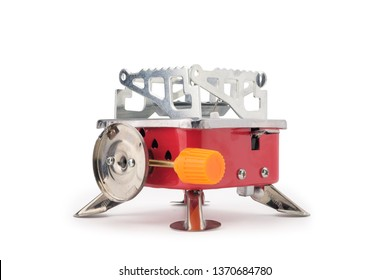 Portable Gas Stove isolated on white background with clipping path.