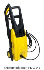 portable pressure washer isolated over white background