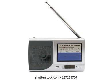 Portable Radio isolated on white background