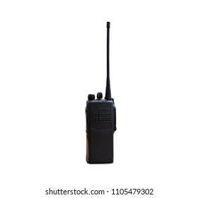 portable radios Walkie-talkie isolated on white transmitter, radio, portable radio, set, portable radio set, portable radio transmitter, walkie talkie,