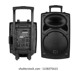 Portable speaker isolated on a white background