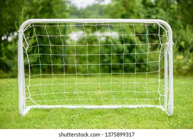 Portable steel mini goal for amateur or youth football (soccer) players