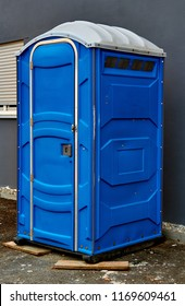 Portable toilet on the street in the city