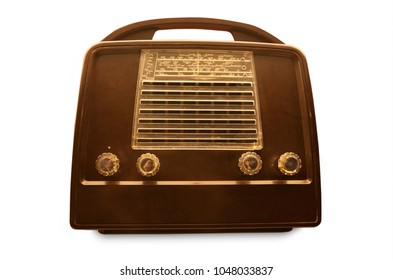 Portable vintage radio from the fities