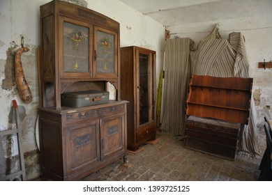 PORTACOMARO D'ASTI, ITALY - MARCH 12, 2014: Furniture, paintings and objects in the old museum-house belonging to the distant Italian relatives of Pope Francis, open to the public free of charge.