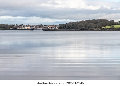 Portaferry village and forest in Strangford lough, Northern Ireland, UK
