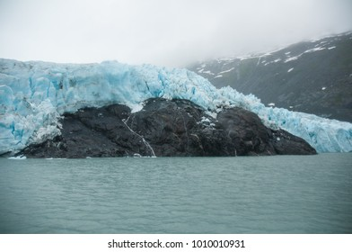 Portage Glacier as seen from lake