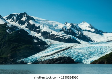 Portage Glacier as seen from Portage Lake.