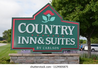 PORTAGE, IN / USA - JULY 16, 2017:  Country Inn and Suites, whose Portage location logo is shown here, has over a thousand three hundred locations.