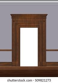 Portal, architectural detail, visualization 3 d, illustration.