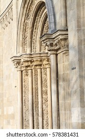 Portal of romanesque church from Hungary
