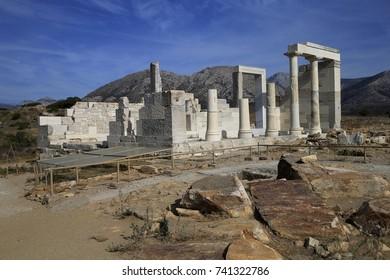 Portara on Island of Naxos in Greece