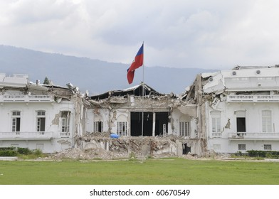 PORT-AU-PRINCE - AUGUST 22: the collapsed Presidential Building in Port-Au-Prince, Haiti on August 22, 2010.