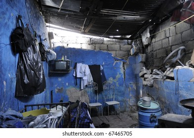 PORT-AU-PRINCE - AUGUST 25: A typical example of a shack in Cite Soleil on of the poorest community in Haiti, in Port-Au-Prince, Haiti on August 25, 2010.