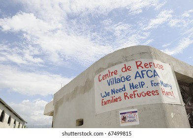 PORT-AU-PRINCE - AUGUST 31: Cry for help on a wall in Port-Au-Prince, Haiti on August 31, 2010.
