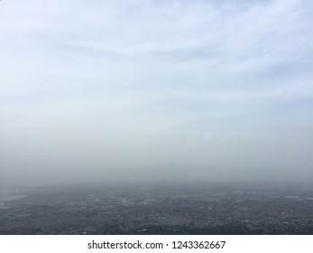 Port-Au-Prince / Haiti - September 27, 2017: The horizon overlooking Port-Au-Prince, Haiti is heavy with smoky haze.