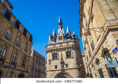 Porte Cailhau, a famous medieval gate of the old city walls of Bordeaux