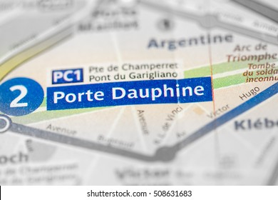 Porte Dauphine Station. 2nd Line. Paris. France