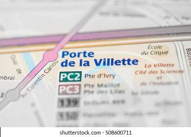 Porte de la Villette Station. 7th Line. Paris. France