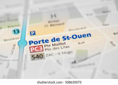 Porte de St-Ouen Station. 13th Line. Paris. France